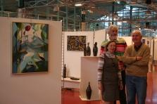 Pascale Elghozi, Claude Odin Redet et Daniel Lucas, lors d'une exposition à Sceaux