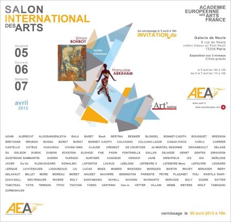 Salon International des Arts, galerie Nesle à Paris - av 2013