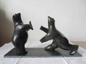 """""""Voulez vous danser ma Belle"""", sculpture en bronze _ Pascale Elghozi"""
