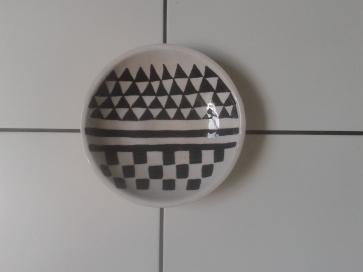 Coupe Blanc-Noir - Céramique de Pascale Elghozi