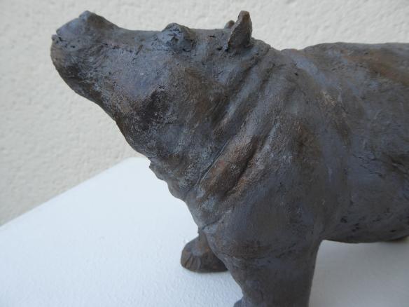 Hippo des eaux - Pascale Elghozi, sculpteur
