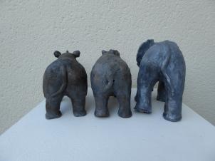 Trio des animaux d'Afrique - Pascale Elghozi