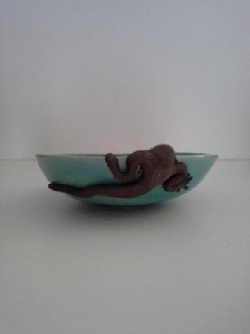 Gecko rigolo, coupe céramique