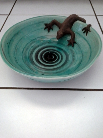 La Coupe du Lézard, coupe céramique par Pascale Elghozi