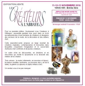Les Créateurs à l'Abbaye, expo-vente de Pascale Elghozi dans un lieu exceptionnel