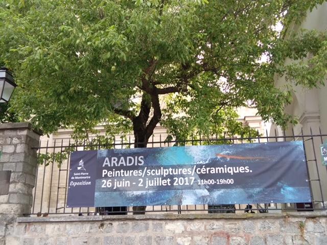 Visiter montmartre et tomber sur une expo d'art contemporain 2017