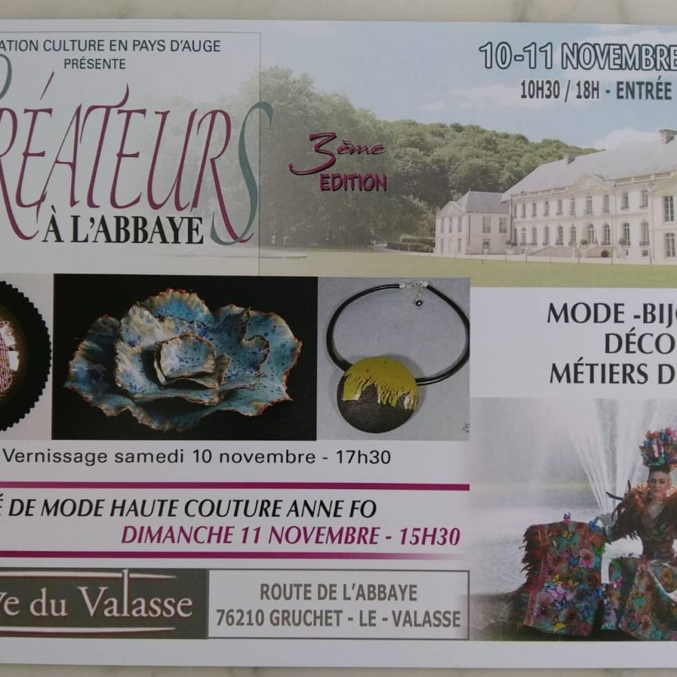 flyer 3ème expo-vente Abbaye valasse Seine maritime