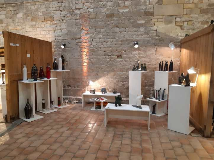 Stand Pascale Elghozi expo vente Honfleur 2019